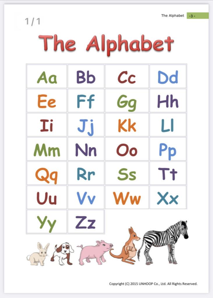 hanasoアルファベット